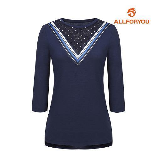 [올포유]여성 브이 배색 반팔 티셔츠 AWTRH6R61-915_G
