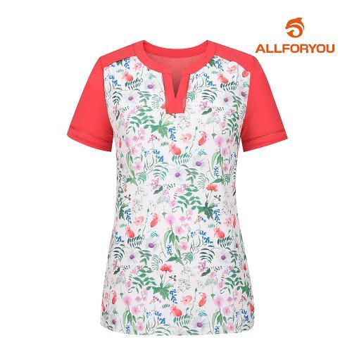 [올포유]여성 플라워 반팔 티셔츠 AWTRH6165-403_G