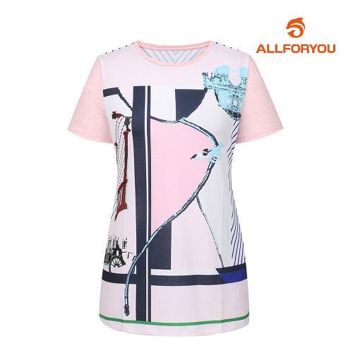 [올포유]여성 프린트 반팔 티셔츠 AWTRH6158-403_G