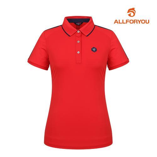 [올포유]여성 펀칭 카라 반팔 티셔츠 AWTPI6141-500_G