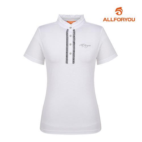 [올포유]여성 프릴 반팔 티셔츠 AWTHH6128-100_G