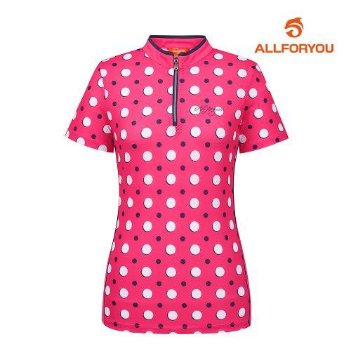 [올포유]여성 도트 집업 반팔 티셔츠 AWTHH6121-403_G