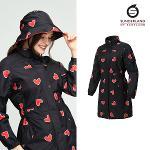 선덜랜드 여성 하트 프린트 비옷 - 16152RC64