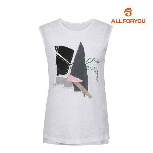 [올포유]여성 프린팅 민소매 티셔츠 AWTSI6R64-100_G