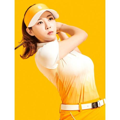 [빈폴골프] [NDL라인] 여성 오렌지 그라데이션 반집업 티셔츠 (BJ1342L518)