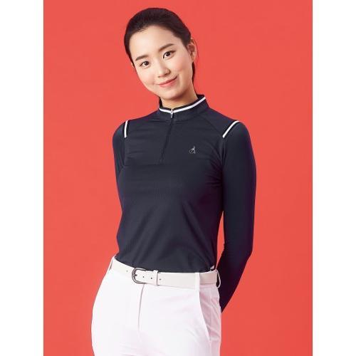 [빈폴골프] 여성 네이비 믹스 테이프 올인원 티셔츠 (BJ1441A14R)