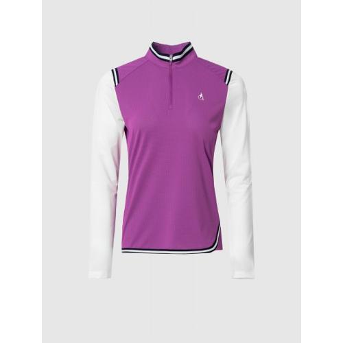 [빈폴골프] 여성 마젠타 믹스 테이프 올인원 티셔츠 (BJ1441A14W)