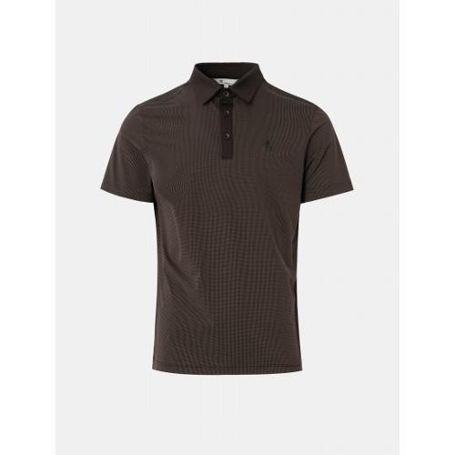 [빈폴골프] 남성 브라운 투톤 잔도트 칼라 티셔츠 (BJ1342B72D)