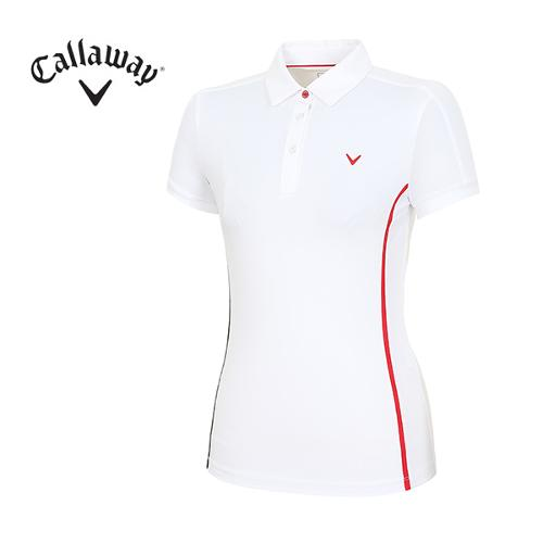[캘러웨이]여성 심플라인 포인트 티셔츠 CWTYH6153-100_G