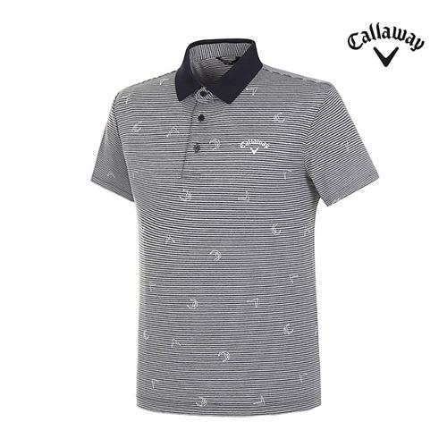 [캘러웨이]남성 로고 스트라이프 티셔츠 CMTPI2948-925_G