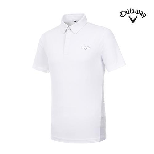 [캘러웨이]남성 메쉬 프린트 반팔 티셔츠 CMTYI2376-100_G