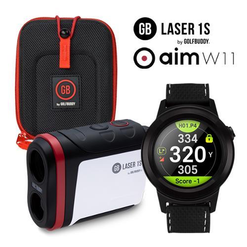 [2021년신제품]골프버디 GB LASER 1S 레이저 거리측정기/ aim W11 시계형 GPS 골프워치-2종택일