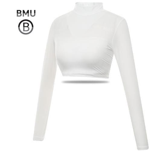 [BMU] UV차단 냉감 나일론스판 하프탑 여성 긴팔 이너웨어_254930