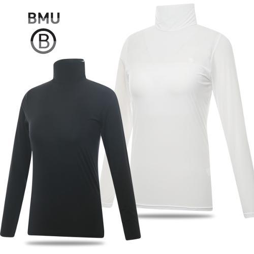 [BMU] UV차단 냉감 나일론스판 솔리드 하프넥 여성 긴팔 이너웨어_254929