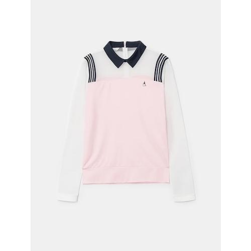 [빈폴골프] 여성 핑크 메쉬 믹스 올인원 티셔츠 (BJ1441A13X)