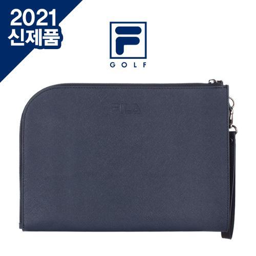 [2021년신제품]FILA GOLF 휠라골프 남,여공용 ROUND 라운드 사피아노 클러치백[선물용하드케이스포함]
