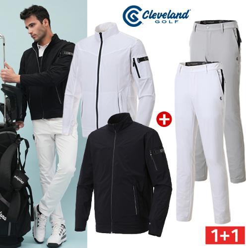 [골핑특가] 클리브랜드골프 360도 스윙마스터 남성 윈드자켓 + 옆선 배색 E-BAND 골프바지/골프웨어
