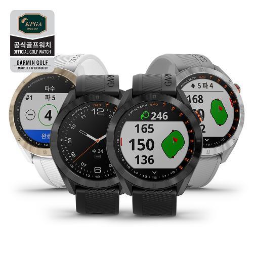 [가민코리아정품] 어프로치 S40 골프GPS 스마트워치 거리측정기