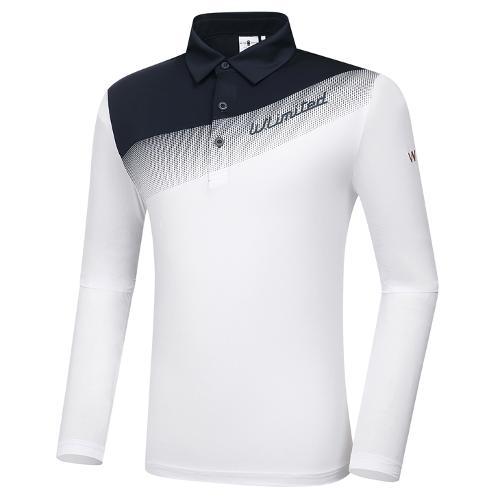 [와이드앵글] 남성 WL W.ICE 컬러블럭 긴팔 티셔츠 M WMM21211W2