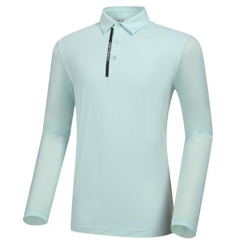 [와이드앵글] 남성 CF W.ICE FIN FIT 백 프린트 긴팔 티셔츠 M WMM21243G2