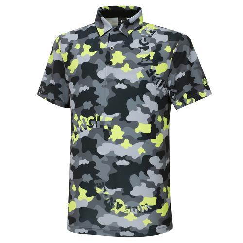 [와이드앵글] 남성 WG 캐모플라쥬 패턴 프린트 반팔 티셔츠 M WMM21260G1