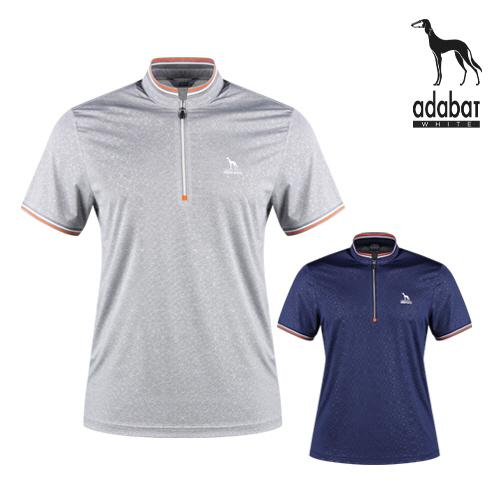 아다바트W 남성 반팔 반집업 셔츠 AB1M402