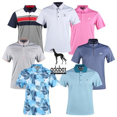 아다바트W 남성 여름 반팔 카라 골프 티셔츠 모음