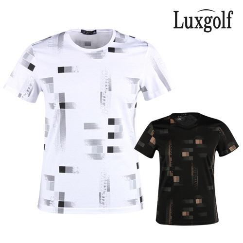 럭스골프 남성 라운드 반팔 티셔츠 OT1M401