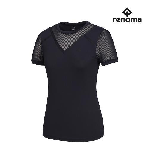 [레노마골프]여성 V절개 메쉬 패치 반팔 티셔츠 RWTRJ6115-925_G