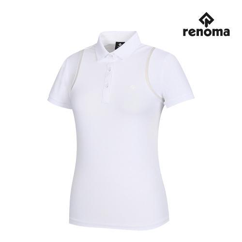 [레노마골프]여성 메쉬 카라 반팔 티셔츠 RWTPJ6112-100_G