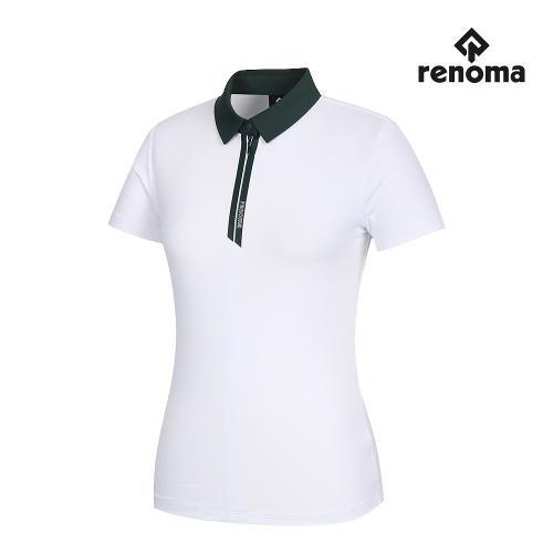 [레노마골프]여성 카라 반집업 반팔 티셔츠 RWTYJ6109-100_G