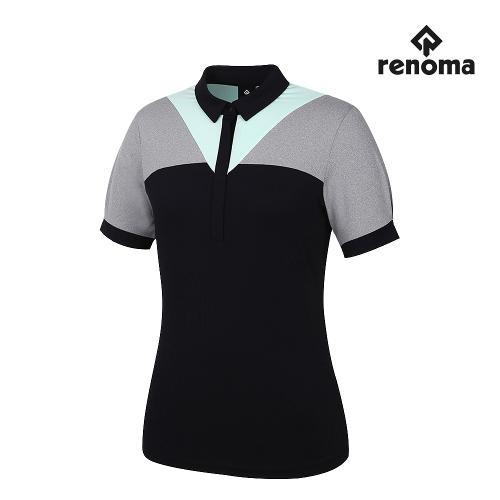 [레노마골프]여성 V 카라 반팔 티셔츠 RWTYJ6182-199_G