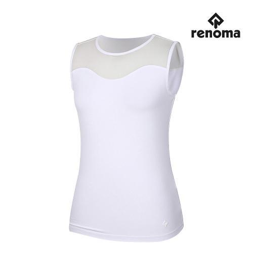 [레노마골프]여성 앞등판 메쉬 패치 민소매 티셔츠 RWTSJ6141-101_G