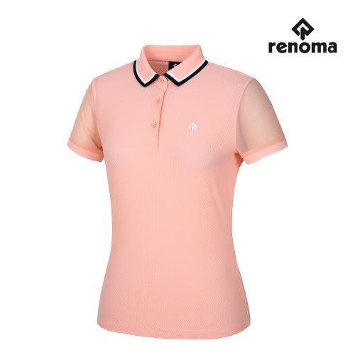 [레노마골프]여성 소매 메쉬 카라 반팔 티셔츠 RWTPJ6134-307_G