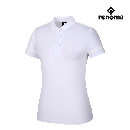 [레노마골프]여성 펀칭 카라 반팔 티셔츠 RWTYJ6108-100_G