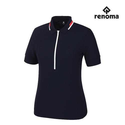 [레노마골프]여성 지퍼 카라 반팔 티셔츠 RWTPJ6181-915_G