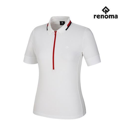 [레노마골프]여성 지퍼 카라 반팔 티셔츠 RWTPJ6181-101_G