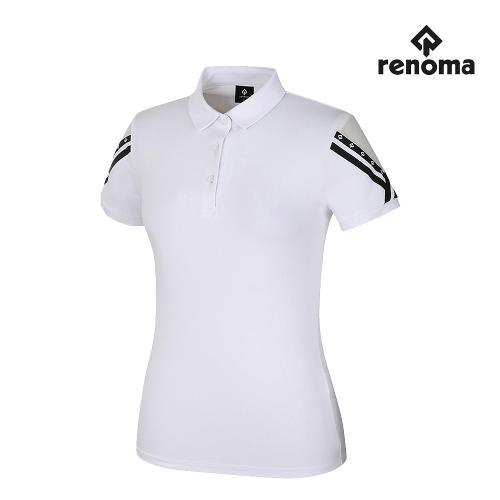 [레노마골프]여성 소매 카라 반팔 티셔츠 RWTYJ6133-100_G
