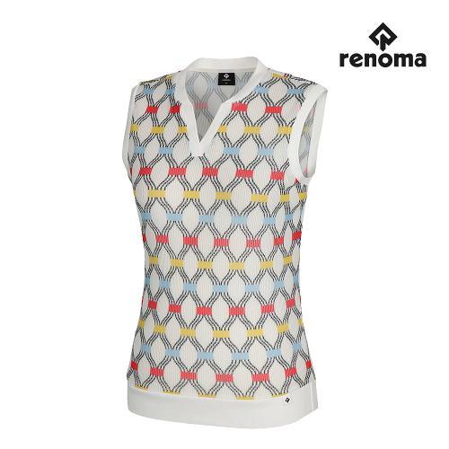 [레노마골프]여성 넥변형 민소매 티셔츠 RWTRJ6172-101_G