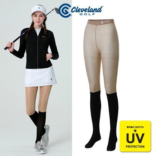 [클리브랜드골프] UV차단 투톤 페이크 니삭스 여성 스타킹/골프용품_CGKWPS1126S