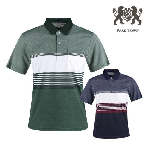 파크타운 남성 여름 반팔 골프 셔츠 RM1M408