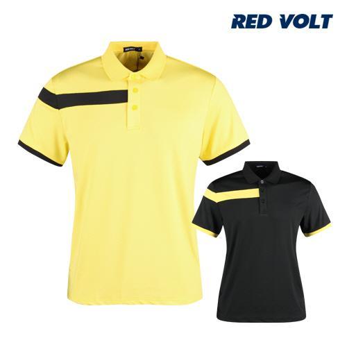 레드볼트 남성 배색 반팔 골프 카라셔츠 RM1M411