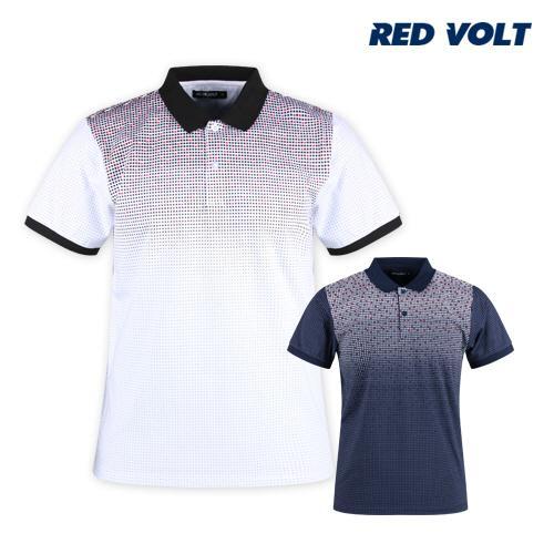 레드볼트 남성 여름 반팔 골프 셔츠 RM1M409