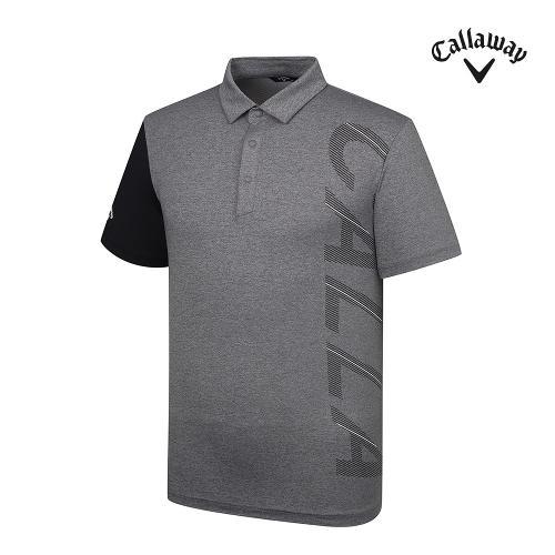 [캘러웨이]21SS 남성 로고 프린트 반팔 티셔츠 CMTYK2343-193_G