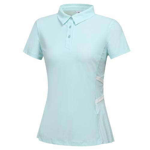 [와이드앵글] 여성 CF FIN FIT 플리츠 반팔 티셔츠 L WWM21247G2