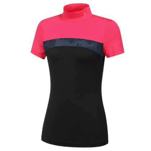 [와이드앵글] 여성 WG 캐모플라쥬 컬러블럭 반팔 티셔츠 L WWM21262P8