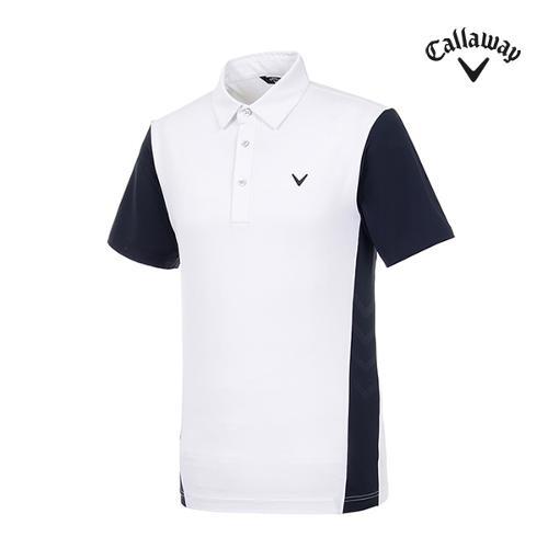 [캘러웨이]남성 도트 반팔 카라 티셔츠 CMTYI2247-100_G