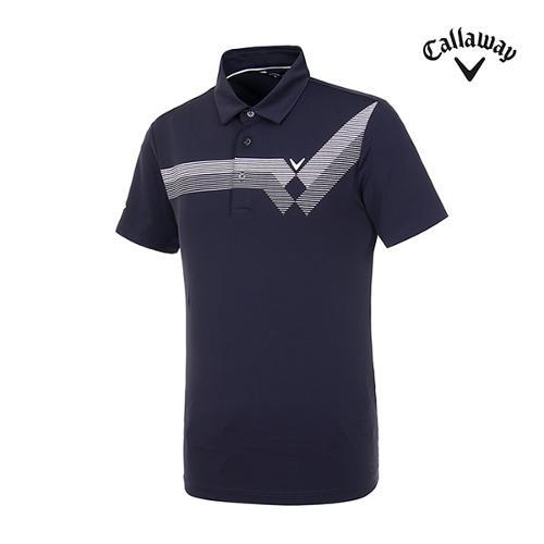 [캘러웨이]남성 스트라이프 반팔 티셔츠 CMTYI2349-925_G