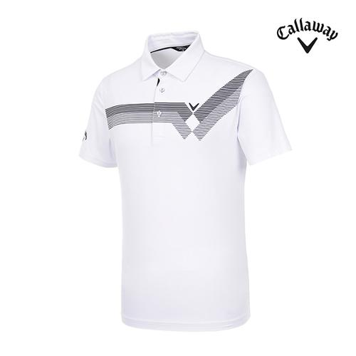 [캘러웨이]남성 스트라이프 반팔 티셔츠 CMTYI2349-100_G
