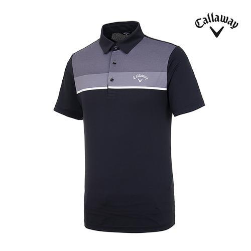 [캘러웨이]남성 컬러블록 반팔 티셔츠 CMTYI2260-199_G